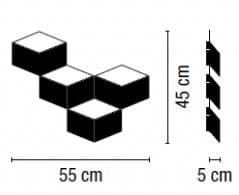 Wandleuchte Fold Surface 4204 14 Leuchtenbild