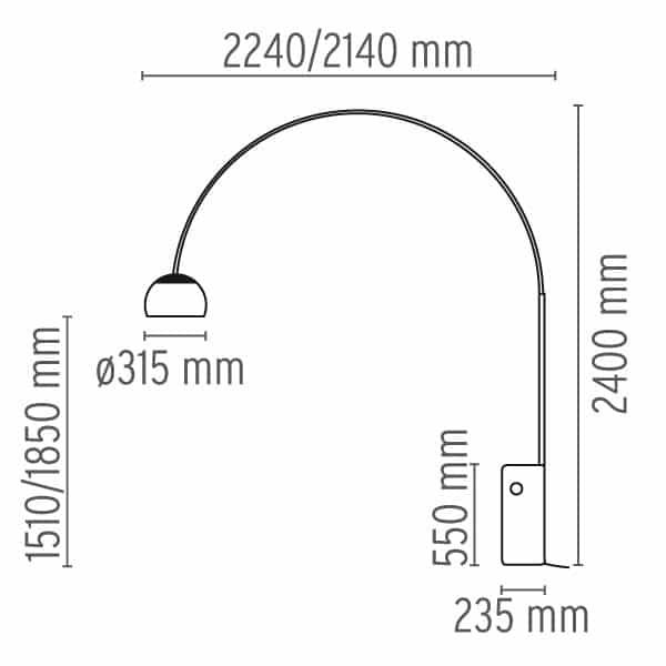 Stehleuchte Arco LED
