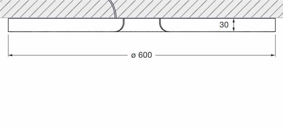 Occhio Mito soffitto 60 up ceiling skizze