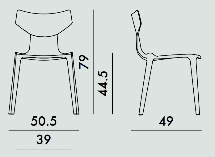 Kartell Re-Chair Skizze