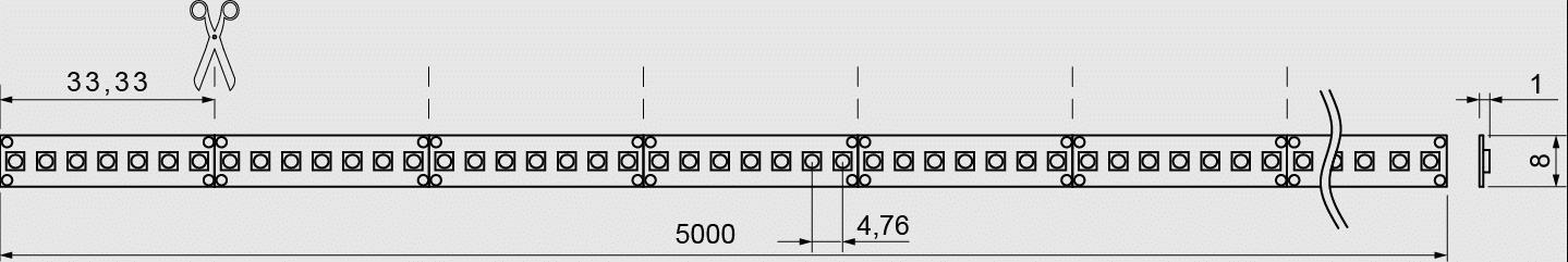 QX II Basic 5000mm 14,4W Skizze