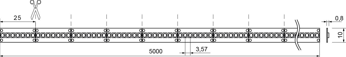 QX II Basic 5000mm 19,2W Skizze